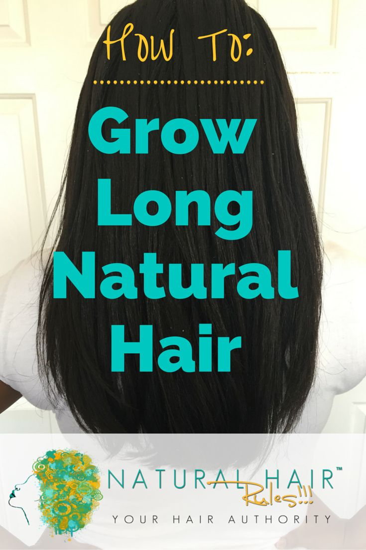 Long natural hair is very possible, but it takes patience and proper care. #naturalhair