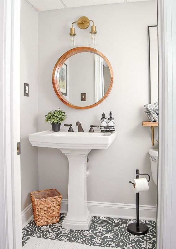 21 Instant Solutions For Modern Farmhouse Bathroom Small Half Baths 16 Apikhome Com Modern Vintage Bathroom Cute Bathroom Ideas Small Half Baths