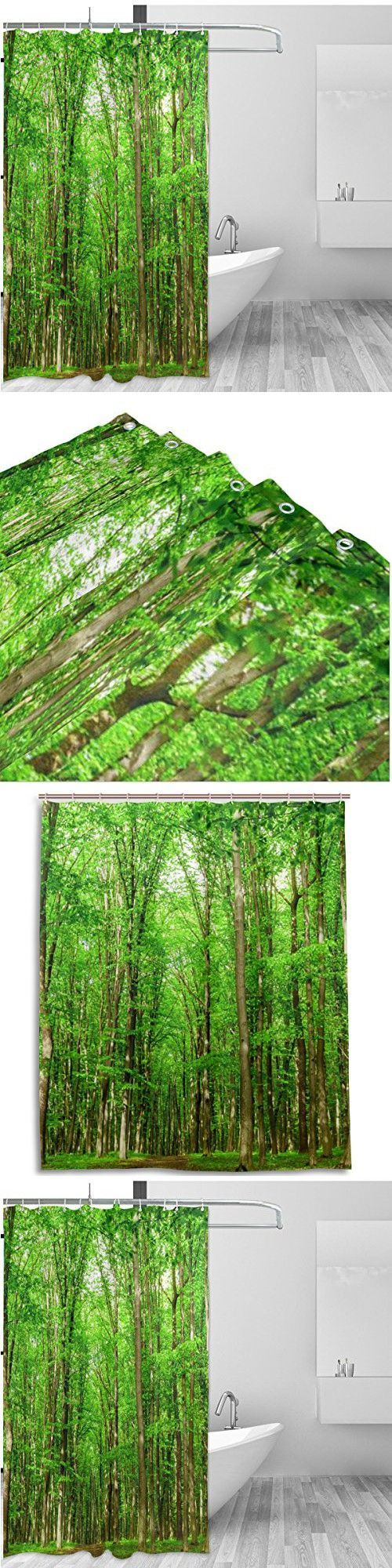 Rainforest shower curtain - Tree Of Life Home Decor Shower Curtain Set By Alaza Natural Landscape Scene Tropical Woodland
