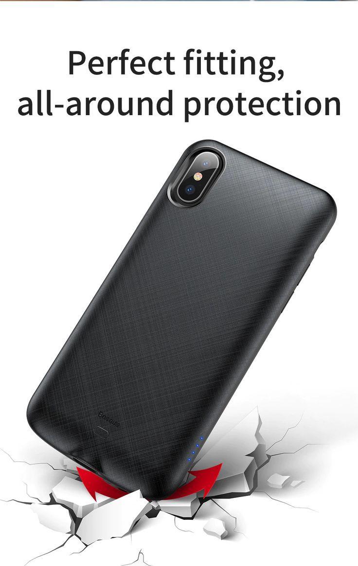 Baseus Iphone X Handyhulle Zum Aufladen Der Batterie Aufladen Baseus Batterie Der Handyhuelle Handyhulle Iphone Zum Iphone Handy Aufladen