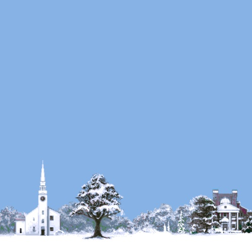 Snowy New England town