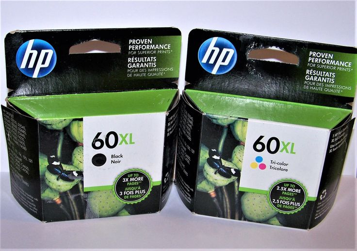 DESTASH - Two HP Printer Ink Cartridges - XL Printer Cartridges - #60 Xl Hp Ink Cartridges - Hp Printer Ink - Tri-Color Ink and Black Ink by foodforthesoul on Etsy