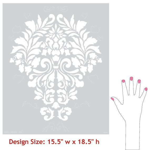 Wall Stencils | Fabric Damask Stencils | Royal Design Studio