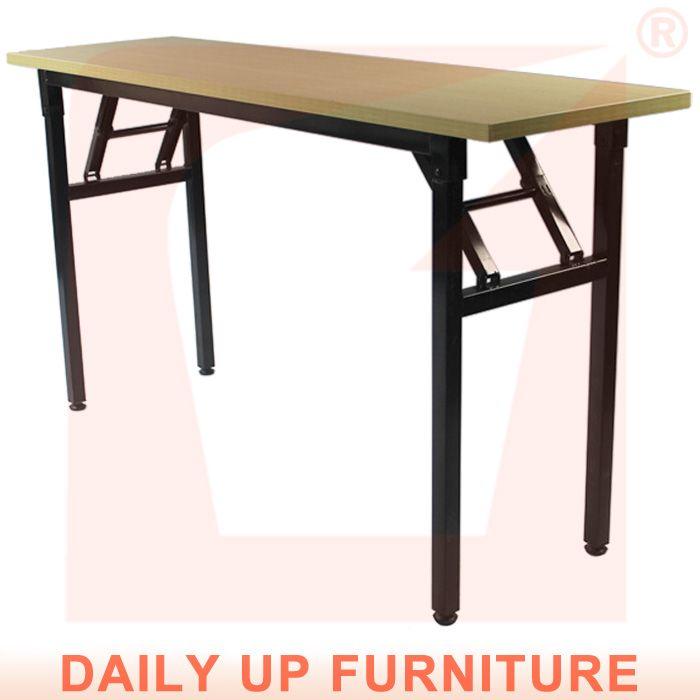 Дешевые складной столик для проведения банкетов Talbe с различным размером металлический каркас дерево портативный стол