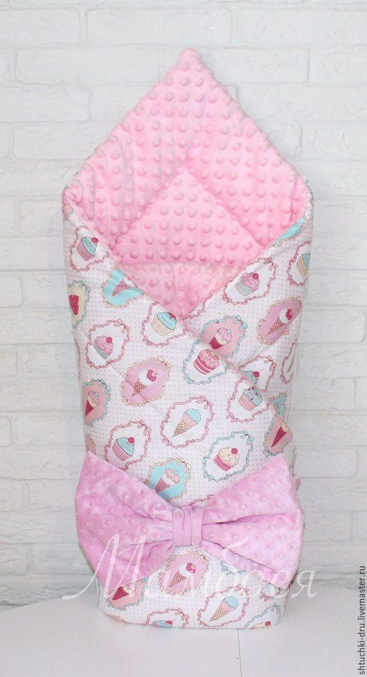 Детская ручной работы. Ярмарка Мастеров - ручная работа. Купить Конверт одеялко на выписку. Handmade. Конверт, конверт одеяло, гнездышко