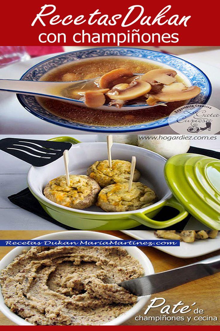 6 recetas ligeras con champiñones, aptas para la dieta #Dukan en fase Crucero PV