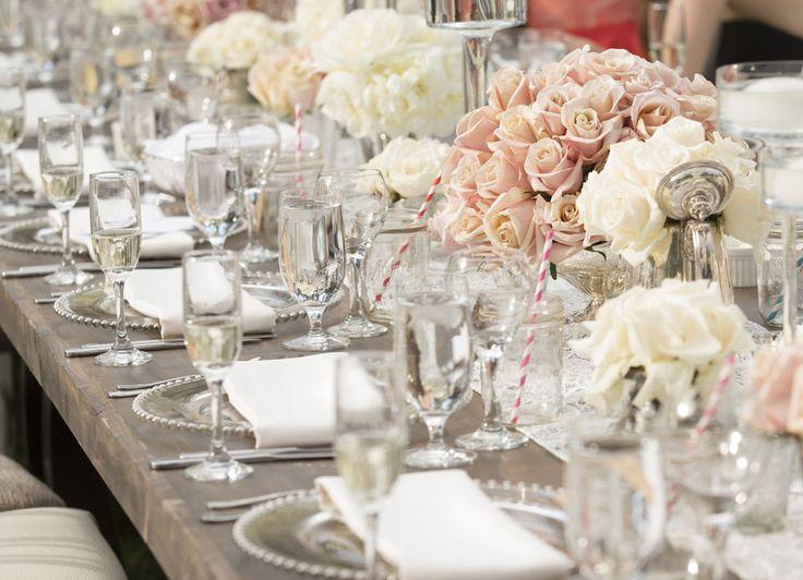 Blush ivory wedding. Jessie James Decker wedding
