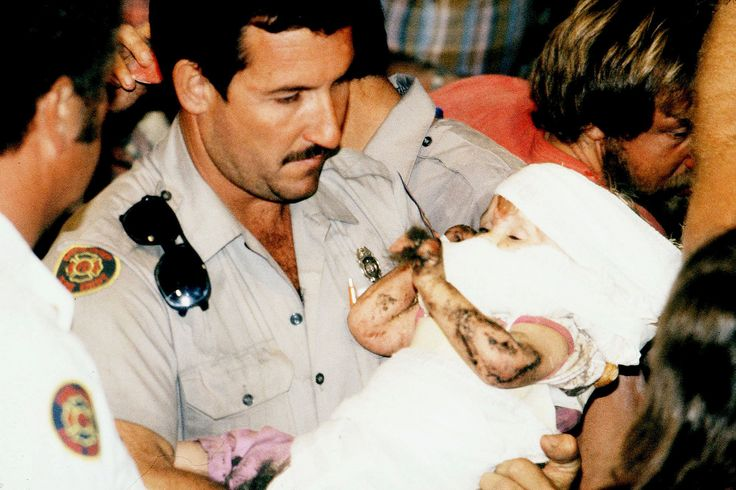 In 1987, Texas 18-month-old Jessica McClure was rescued from a backyard well after being trapped for nearly 60 hours