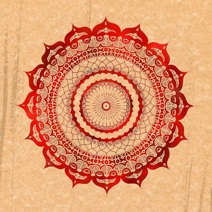 Red Lotus Mandala