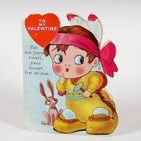 Vintage Valentine, Storybook, Costumed baby, USA, 4 x 5 in.