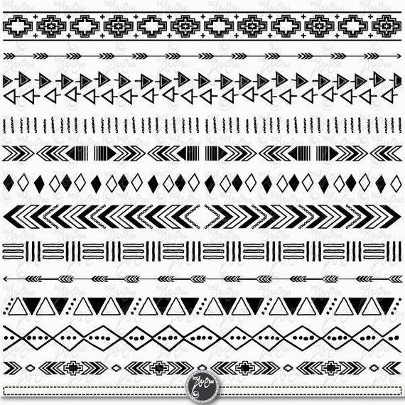 Tribal Borders Aztec Borders Clipart Aztec Etsy In 2021 Aztec Tribal Tattoos Marquesan Tattoos Clip Art Borders