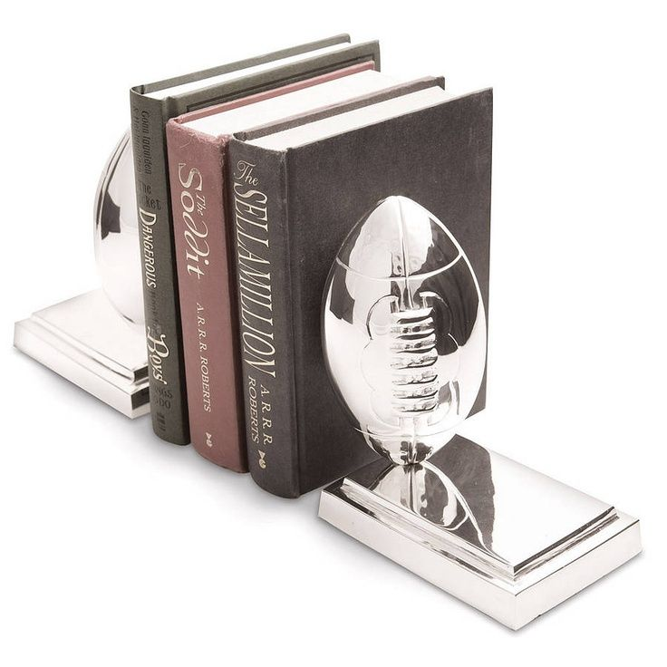 Pair Of Rugby Ball Bookends by Me and My Sport, $128.06. Add to iList Apps Wedding Registry at https://www.ilistapps.com