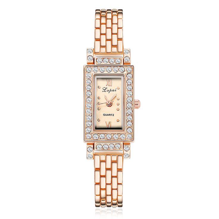 $2.99 (Buy here: https://alitems.com/g/1e8d114494ebda23ff8b16525dc3e8/?i=5&ulp=https%3A%2F%2Fwww.aliexpress.com%2Fitem%2F2017-New-Arrive-Women-Bracelet-Watch-Rectangle-Crystal-Square-WristWatch-For-Women-Ladies-Alloy-Rose-Gold%2F32777957889.html ) 2017 New Women Bracelet Watches Rectangle Crystal Square WristWatch For Women Ladies Alloy Rose Luxury Dress Quartz Watch Clock for just $2.99