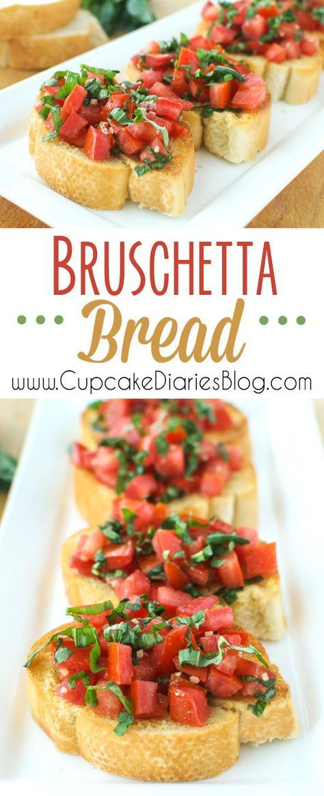 Bruschetta Bread - Perfect as a side dish for a pasta dinner or as a party appetizer!