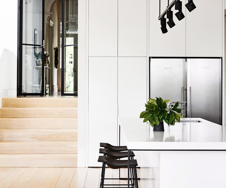 Beautiful minimal kitchens to be inspired by.