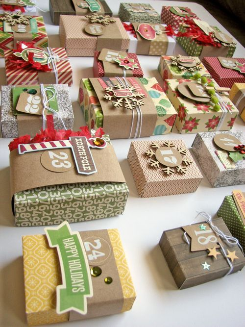 HOW TO create a beautiful Advent Calendar - Step by step instructions. Featuring Jillibean Soup papers, stickers and die-cuts by designer Nicole Nowosad