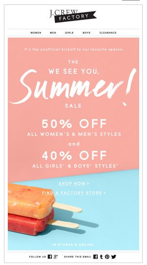 jcrew factory email blast