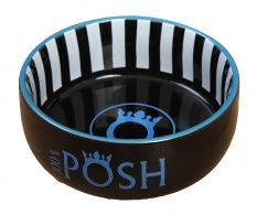Bol pentru animale de companie Stripes Black and Blue 1.8 L