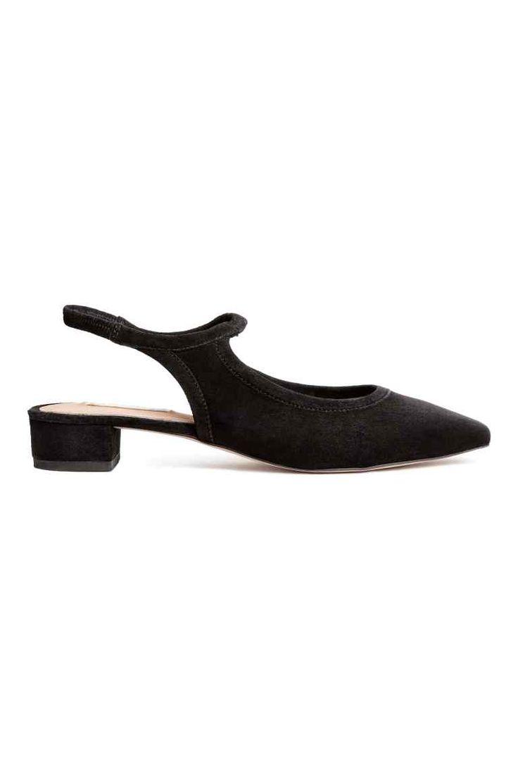 Suede slingbacks - Black - Ladies | H&M GB