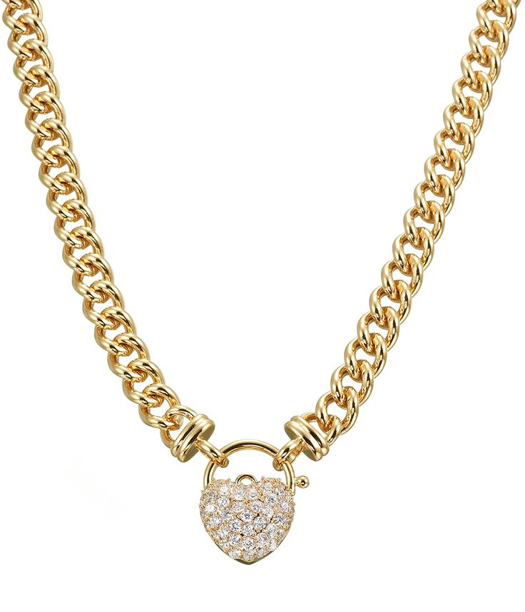 Simply Wow Heart Necklace featuring Swarovski crystals - NG0043 - $549 AUD