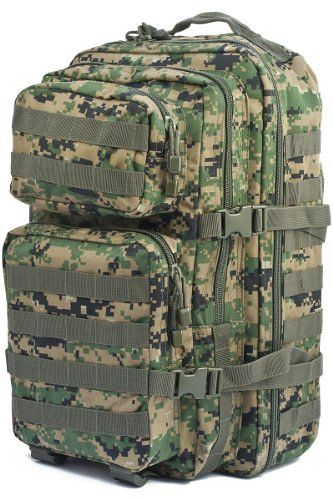Mil-Tec Military Army Patrol Molle Assault Pack Tactical Combat Rucksack Backpack Bag 36L MARPAT Digital Woodland Camo - http://emergencysurvival.supply/?product=mil-tec-military-army-patrol-molle-assault-pack-tactical-combat-rucksack-backpack-bag-36l-marpat-digital-woodland-camo