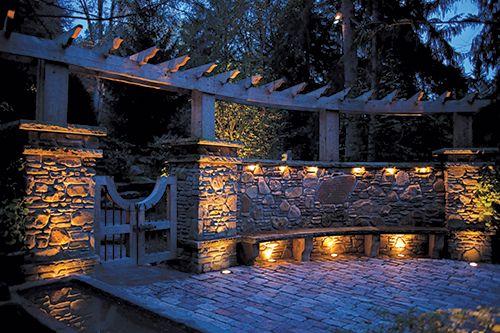 Residential Stone Columns : Best gate column lighting images on pinterest arbors