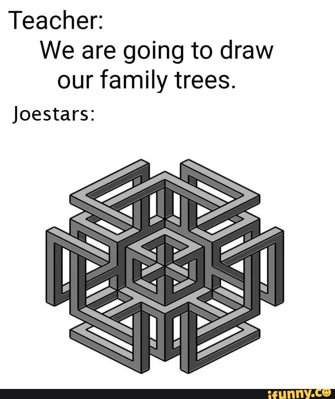 Teacher We Are Going To Draw Our Family Trees Joestars Ifunny Jojo Bizarre Jojo S Bizarre Adventure Jojo