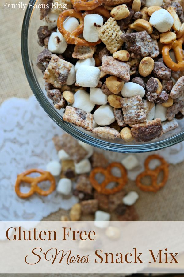 Gluten Free Snack:  Gluten-Free S'mores Snack Mix  -Tastes so good!!