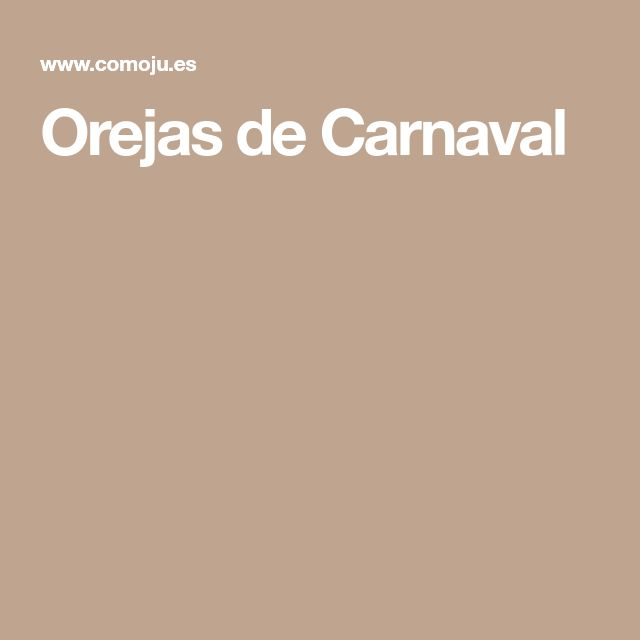Orejas de Carnaval