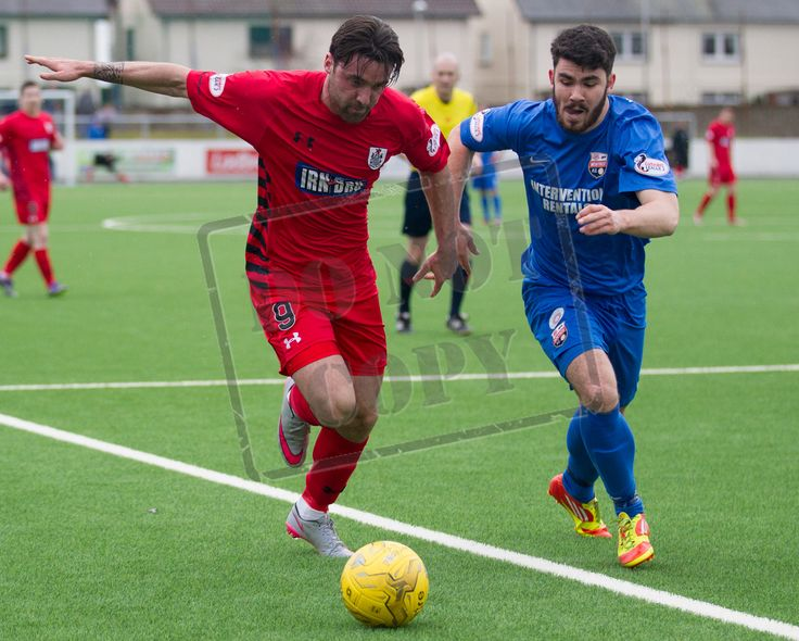 Queen's Park's Chris Duggan fights for the ball during the SPFL League Two game between Montrose and Queen's Park.