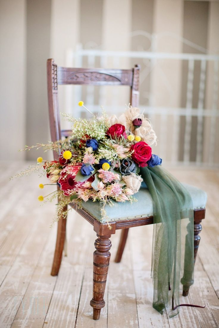 Beautiful winter wedding bouquet by Eco-Chic Weddings. Tyme Photography