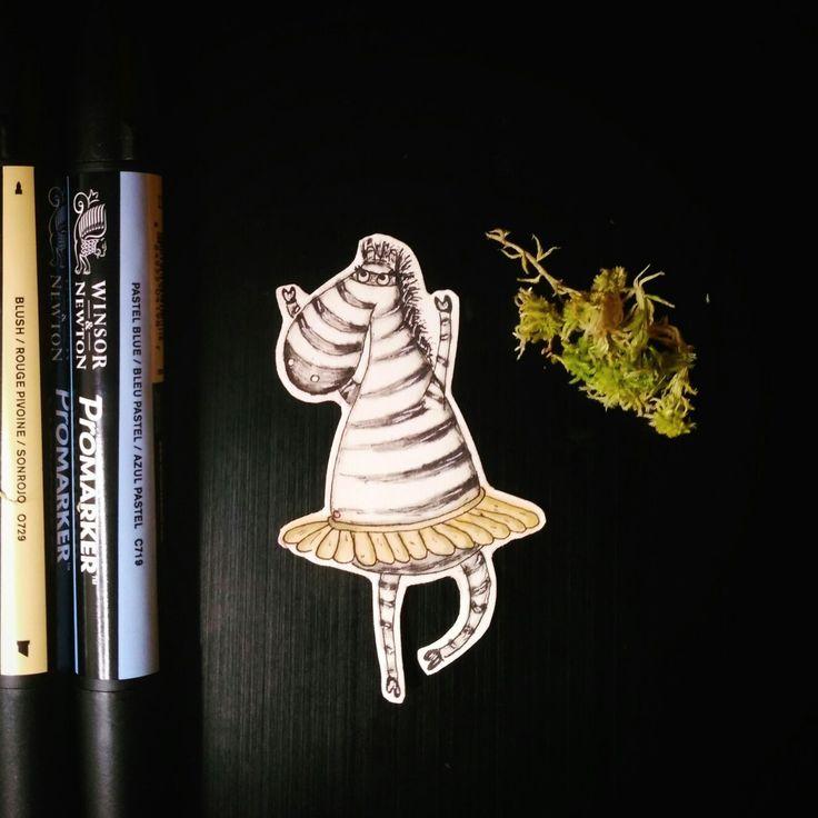 Зебра спиртовыми маркерами Sketchmarker