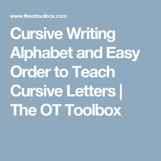 how to teach kids cursive writing