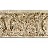 "Found it at Wayfair - Fashion Accents 8"" x 4"" Romanesque Decorative Shelf Rail in Acanthus Travertine"