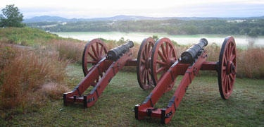 Cannon Replicas at the #SaratogaBattlefield http://www.saratoga.org/visitors