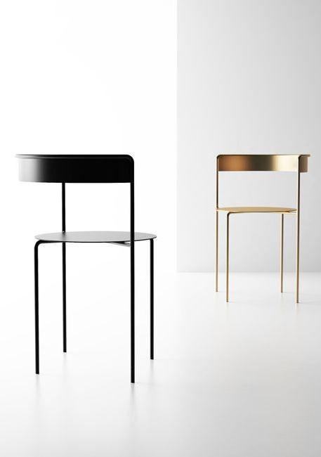 Avoa chair | Designer Pedro Paulo-Venzon | Golden Esszimmerstuhl und Schwarz Esszimmerstuhl | Minimalismus | Luxus Esszimmer   http://wohn-designtrend.de/