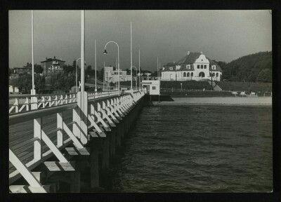 Molo w Orłowie 1935 r. Fot. H. Poddębski