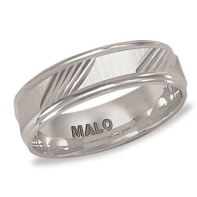 Zales Mens 6.0mm Tapered Milgrain Groove Brushed Wedding Band in Sterling Silver nYag3DEy