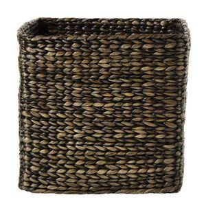 Water Hyacinth Cube Large Black Wash