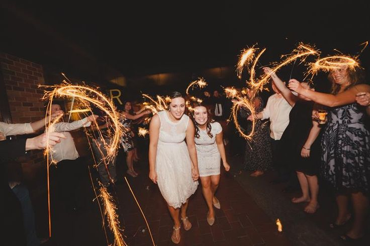 Sparklers are the perfect way to end your wedding night