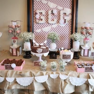Shabby Chic First Communion Party...this is great/not many communion  celebration ideas!