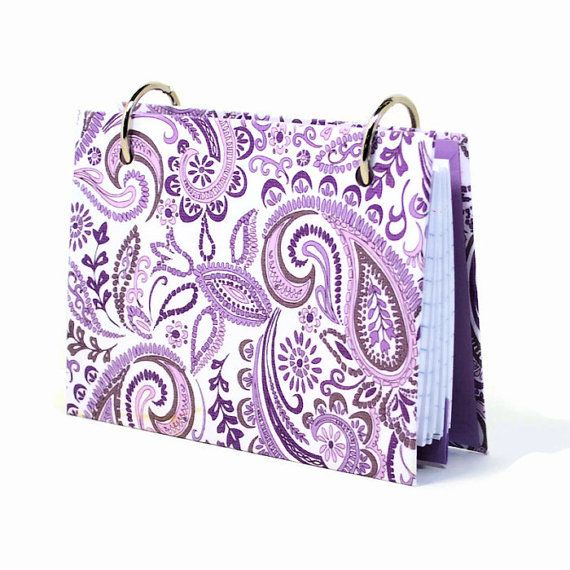 3 x 5 index card binder purple paisley daily by ArtBySunfire