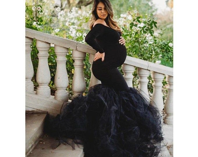 Classy Maternity gown w cape  baby shower Dress maternity photosmaternity dress pregnancy fashionsgender reveal dressbridalbabyshower
