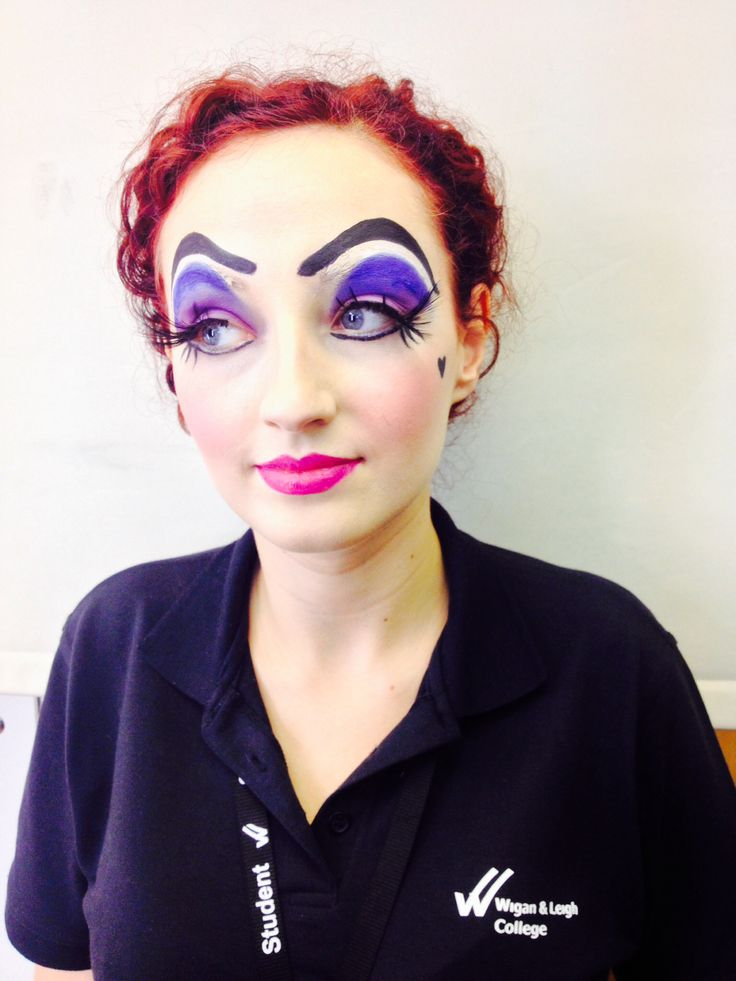 Media makeup. College. Pantomime dame. By me.