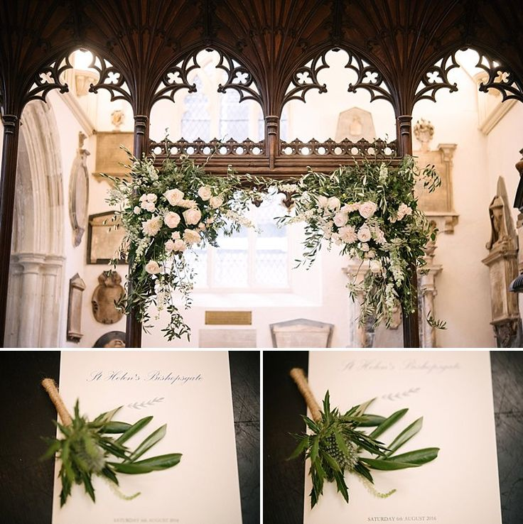 South Transept Arch at St Helen's Flowers by Eileen Ting Photography by Lily Sawyer