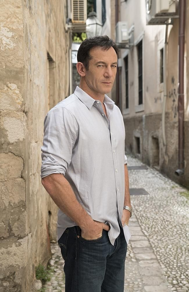 Filmed in Jerusalem until bombs and missiles started exploding ... Actor Jason Isaacs as