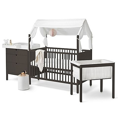 Give Your Nursery Bold Style With The Stokke Home Furniture Collection Featuring A Unique Crib That Converts To Playhouse Dresser