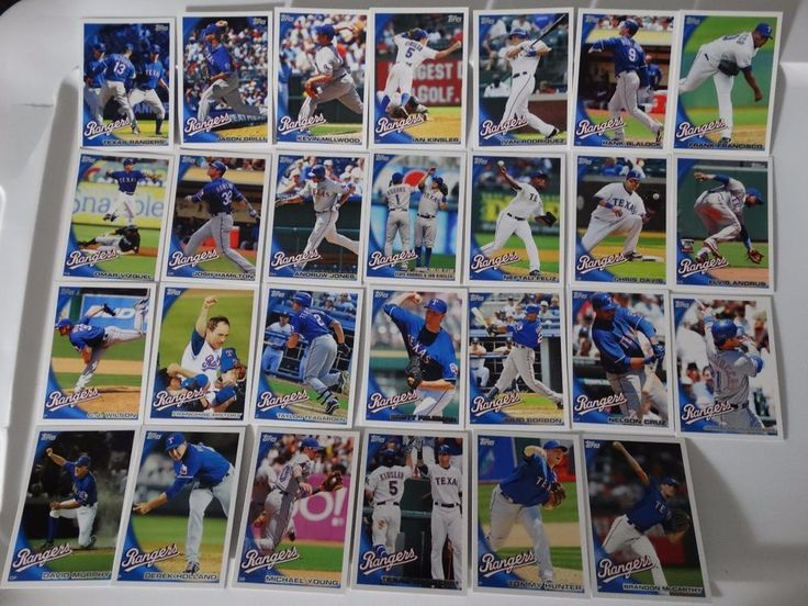 2010 Topps Series 1 & 2 Texas Rangers Team Set of 28 Baseball Cards #topps #TexasRangers