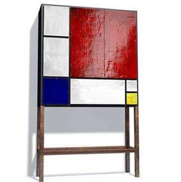 Mondrian-Inspired Accessories: Geometric Graphics Dominate Furniture and Fashion