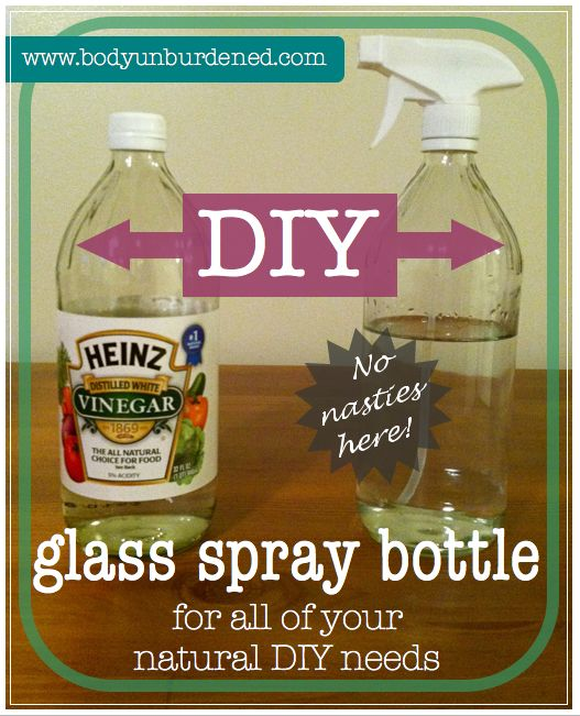 DIY glass spray-bottle for all of your natural DIY needs